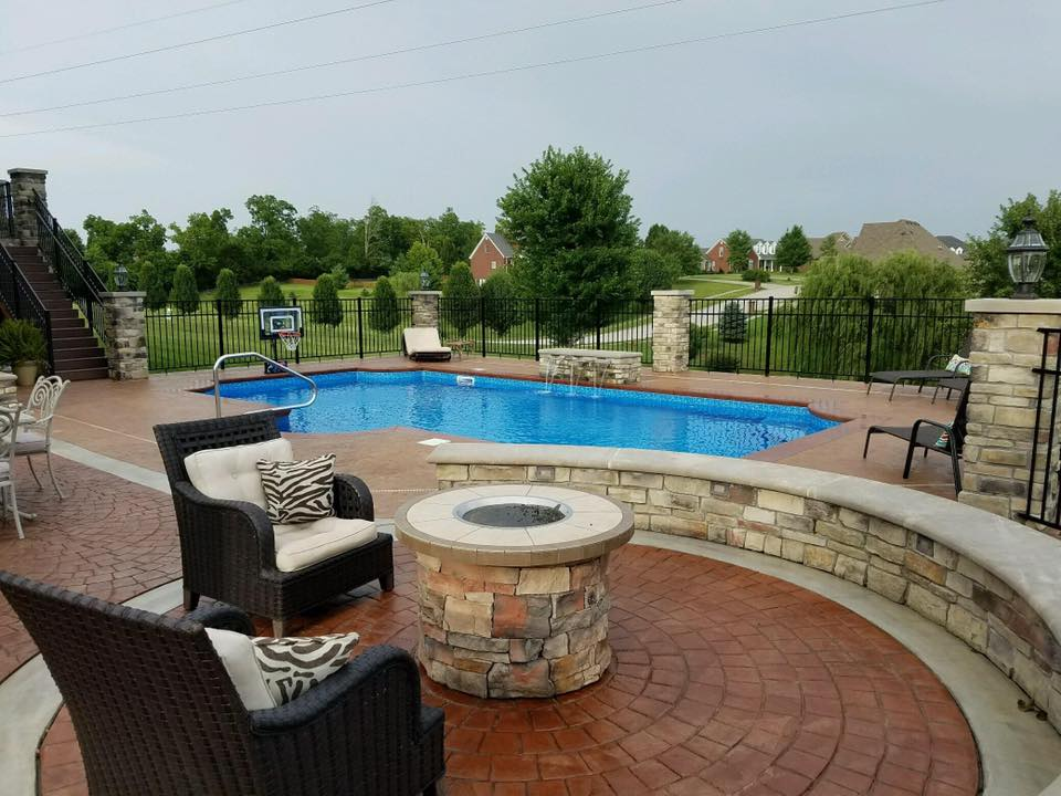 Design of an outdoor pool for Kentucky South Central Pools LLC Mt. Vernon KY